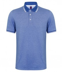Image 3 of Henbury Two Tone Tipped Piqué Polo Shirt