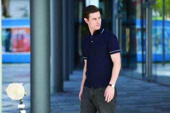 Henbury Contrast Single Tipped Cotton Piqué Polo Shirt image