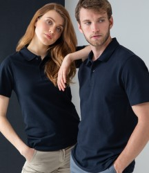 Henbury Unisex Stretch Cotton Piqué Polo Shirt image