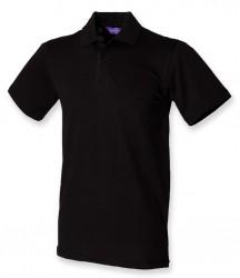 Henbury Stretch Cotton Piqué Polo Shirt image