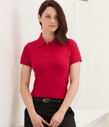 Henbury Ladies Stretch Cotton Piqué Polo Shirt image