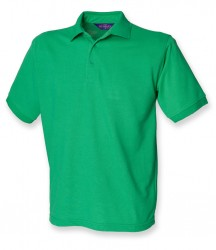 Image 9 of Henbury Heavy Poly/Cotton Piqué Polo Shirt