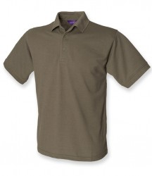 Image 7 of Henbury Heavy Poly/Cotton Piqué Polo Shirt