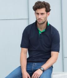 Henbury Contrast Poly/Cotton Piqué Polo Shirt image