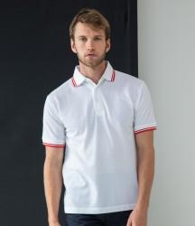 Henbury Tipped Poly/Cotton Piqué Polo Shirt image