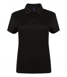 Henbury Ladies Stretch Microfine Piqué Polo Shirt image