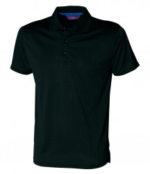 Henbury Cooltouch™ Textured Stripe Piqué Polo Shirt image