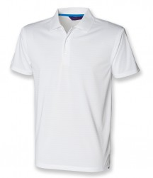 Image 4 of Henbury Cooltouch™ Textured Stripe Piqué Polo Shirt