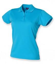 Image 2 of Henbury Ladies Coolplus® Wicking Piqué Polo Shirt
