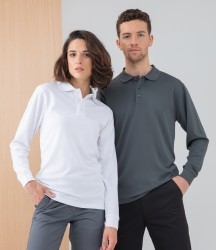 Henbury Unisex Long Sleeve Coolplus® Piqué Polo Shirt image