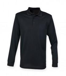 Henbury Long Sleeve Coolplus® Piqué Polo Shirt image