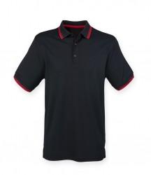 Image 2 of Henbury Coolplus® Tipped Polo Shirt