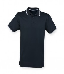 Image 4 of Henbury Coolplus® Tipped Polo Shirt
