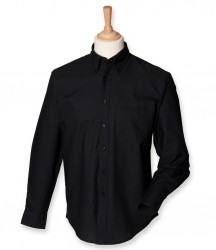 Image 3 of Henbury Long Sleeve Classic Oxford Shirt