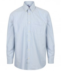 Image 4 of Henbury Long Sleeve Classic Oxford Shirt