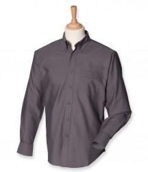Image 3 of Henbury Long Sleeve Classic Oxford Shirt