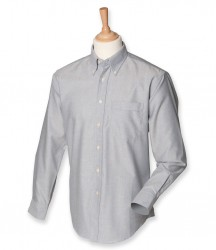 Image 5 of Henbury Long Sleeve Classic Oxford Shirt