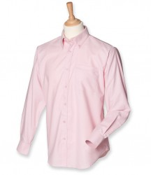 Image 6 of Henbury Long Sleeve Classic Oxford Shirt