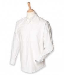 Image 2 of Henbury Long Sleeve Classic Oxford Shirt