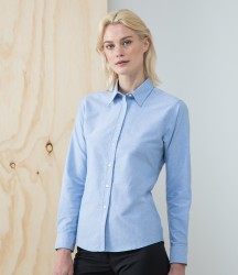 Henbury Ladies Long Sleeve Classic Oxford Shirt image