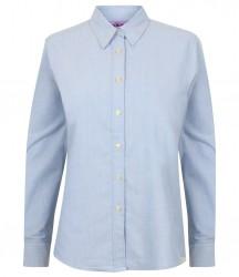 Henbury Ladies Long Sleeve Classic Oxford Shirt image