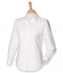 Image 3 of Henbury Ladies Long Sleeve Classic Oxford Shirt