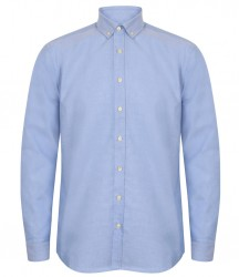 Henbury Modern Long Sleeve Classic Fit Oxford Shirt image