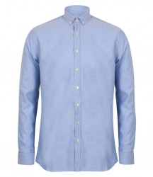Image 2 of Henbury Modern Long Sleeve Regular Fit Oxford Shirt