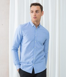 Henbury Modern Long Sleeve Slim Fit Oxford Shirt image