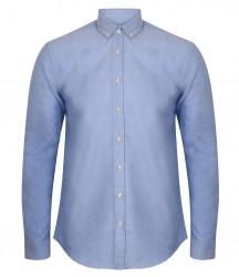 Image 3 of Henbury Modern Long Sleeve Slim Fit Oxford Shirt