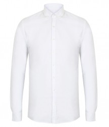 Image 4 of Henbury Modern Long Sleeve Slim Fit Oxford Shirt