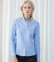 Henbury Ladies Modern Long Sleeve Regular Fit Oxford Shirt image
