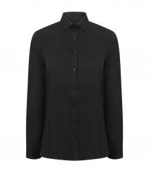 Image 2 of Henbury Ladies Modern Long Sleeve Regular Fit Oxford Shirt