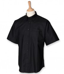 Henbury Short Sleeve Classic Oxford Shirt image
