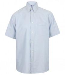 Image 3 of Henbury Short Sleeve Classic Oxford Shirt