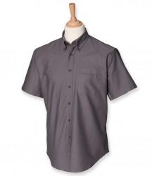 Image 2 of Henbury Short Sleeve Classic Oxford Shirt