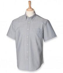 Image 4 of Henbury Short Sleeve Classic Oxford Shirt