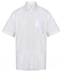 Image 7 of Henbury Short Sleeve Classic Oxford Shirt
