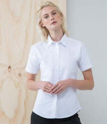 Henbury Ladies Short Sleeve Classic Oxford Shirt image
