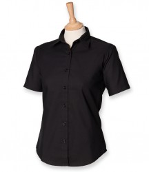 Image 2 of Henbury Ladies Short Sleeve Classic Oxford Shirt