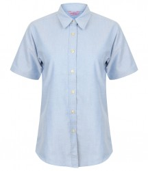 Image 3 of Henbury Ladies Short Sleeve Classic Oxford Shirt