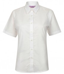 Image 4 of Henbury Ladies Short Sleeve Classic Oxford Shirt