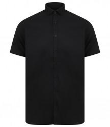 Image 2 of Henbury Modern Short Sleeve Slim Fit Oxford Shirt