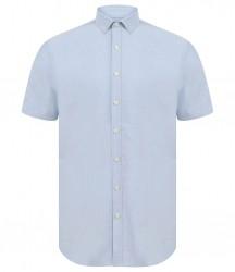 Image 3 of Henbury Modern Short Sleeve Slim Fit Oxford Shirt