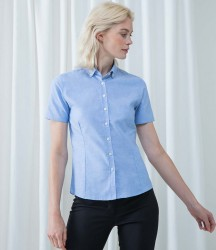 Henbury Ladies Modern Short Sleeve Regular Fit Oxford Shirt image