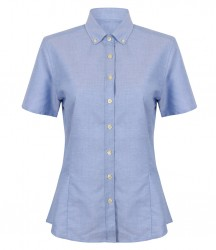 Image 2 of Henbury Ladies Modern Short Sleeve Regular Fit Oxford Shirt