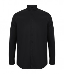 Image 2 of Henbury Long Sleeve Stretch Poplin Shirt