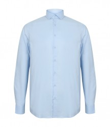 Image 3 of Henbury Long Sleeve Stretch Poplin Shirt