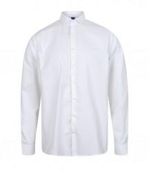 Image 4 of Henbury Long Sleeve Stretch Poplin Shirt