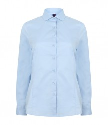 Image 3 of Henbury Ladies Long Sleeve Stretch Poplin Shirt